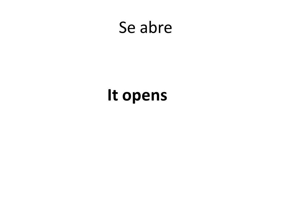Se abre It opens