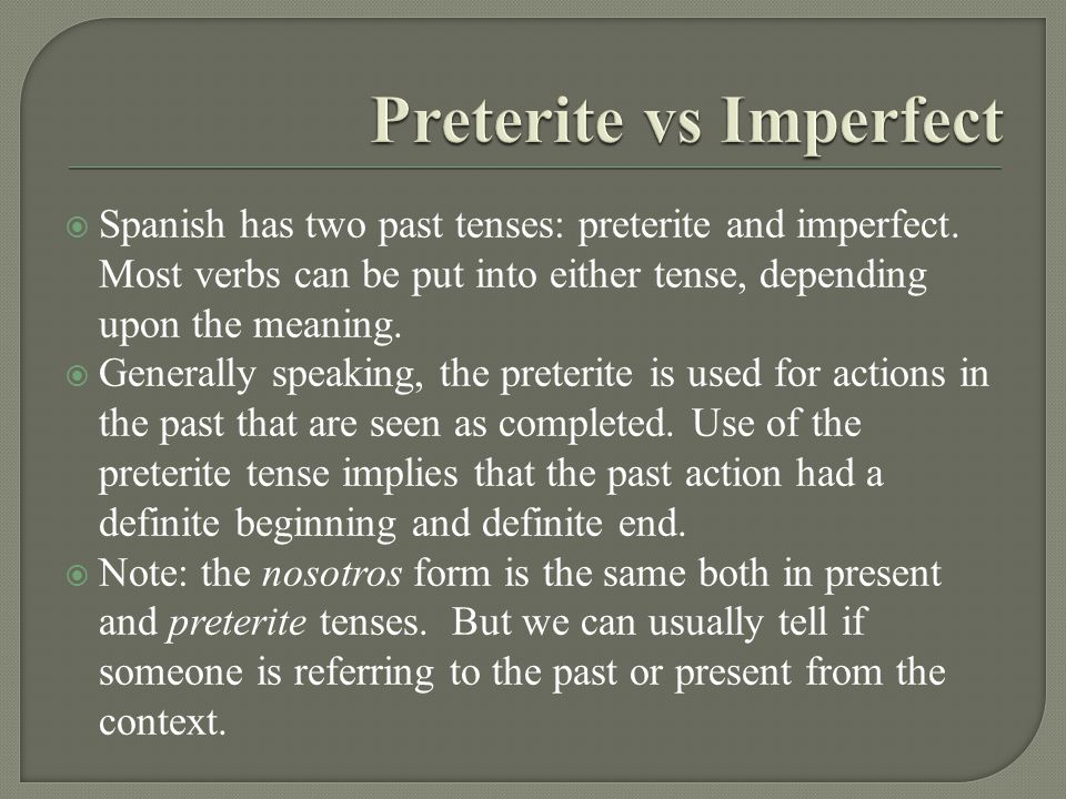 There are a fair number of verbs with irregular conjugation forms in the Preterite.