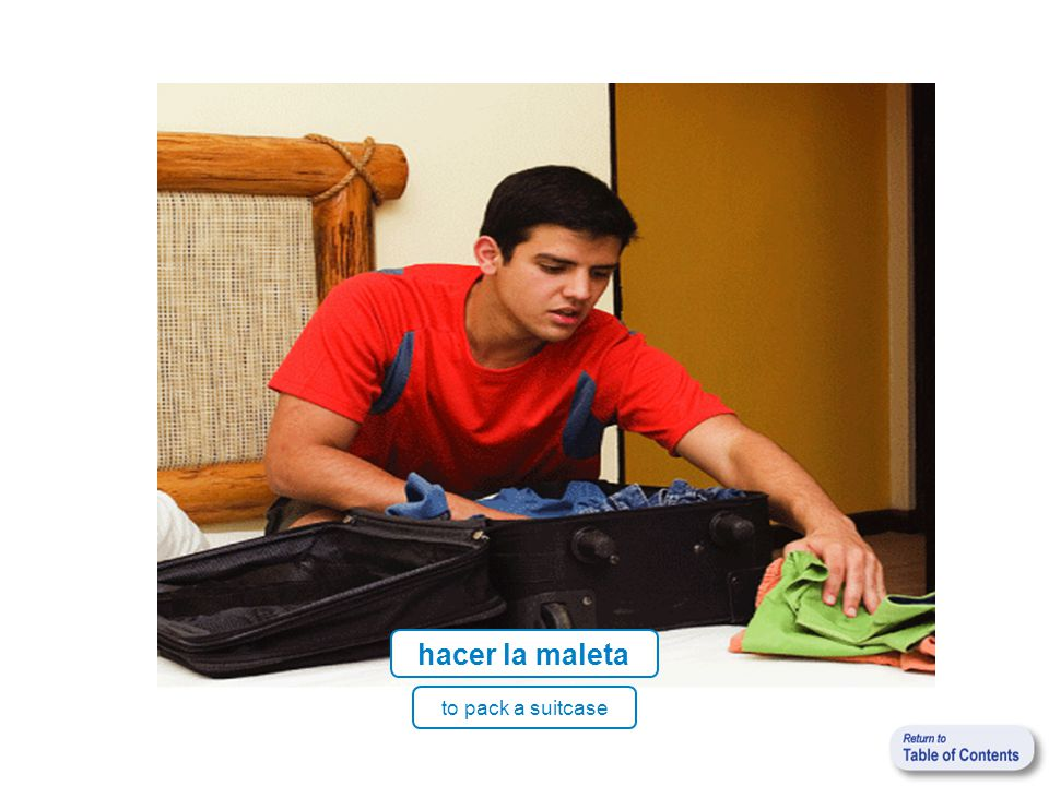 to pack a suitcase hacer la maleta