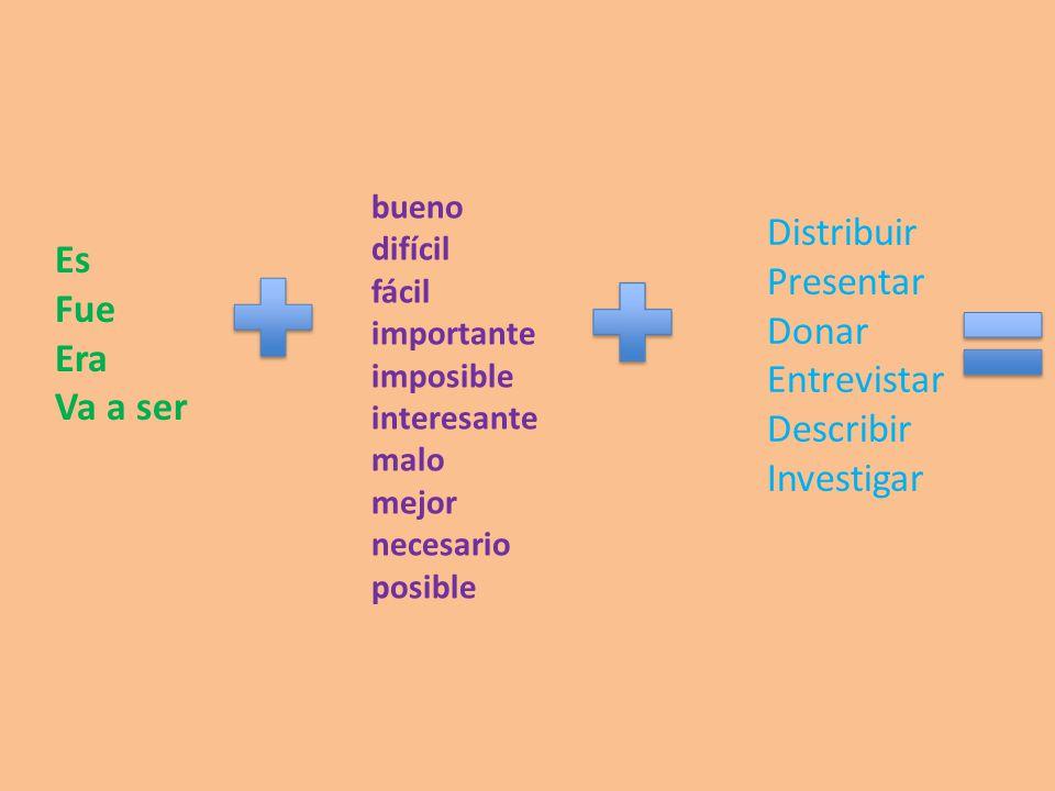 Ejemplos: Es malo presentar información falsa.– Its bad to present false information.