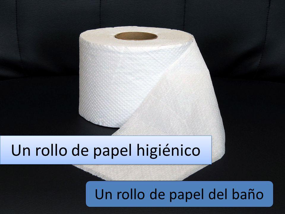 Un rollo de papel higiénico Un rollo de papel del baño