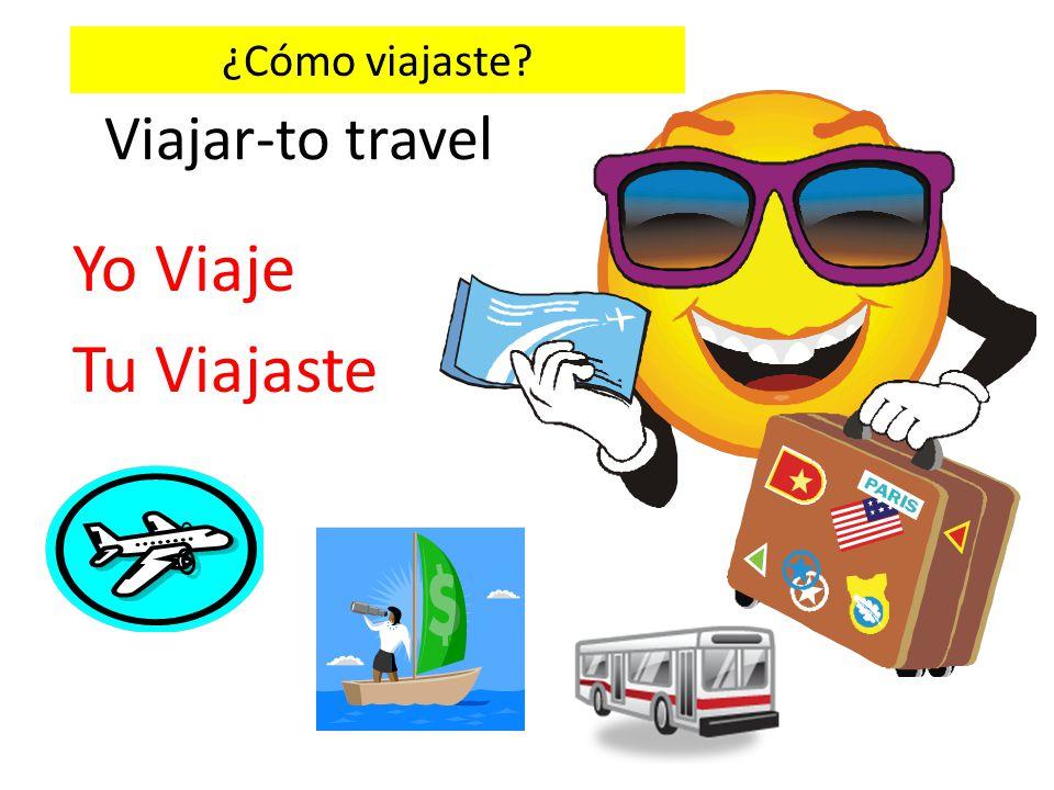 Viajar-to travel Yo Viaje Tu Viajaste ¿Cómo viajaste?
