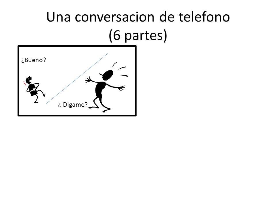 Una conversacion de telefono (6 partes) ¿Bueno? ¿ Digame?