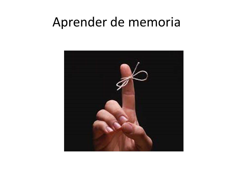Aprender de memoria