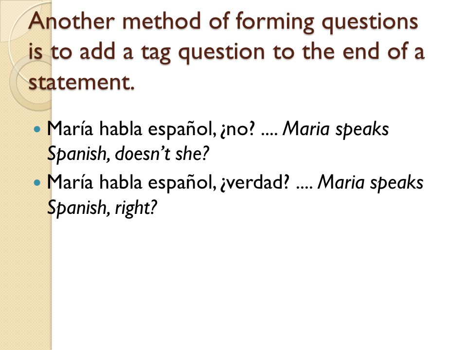 The following questions mean pretty much the same thing: Does María speak Spanish.