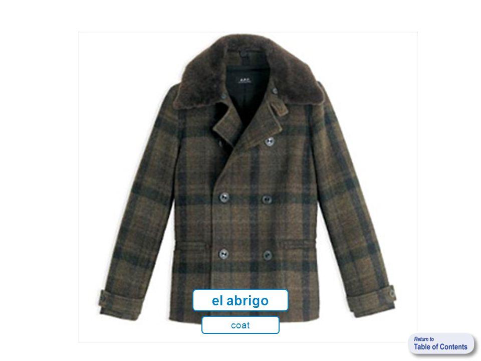el abrigo coat