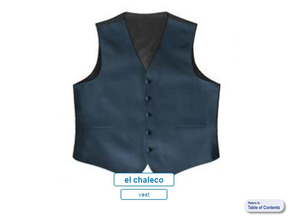 el chaleco vest