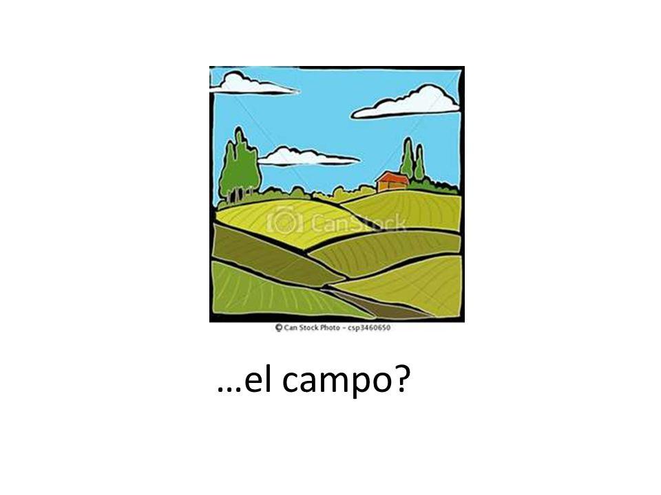 …el campo?