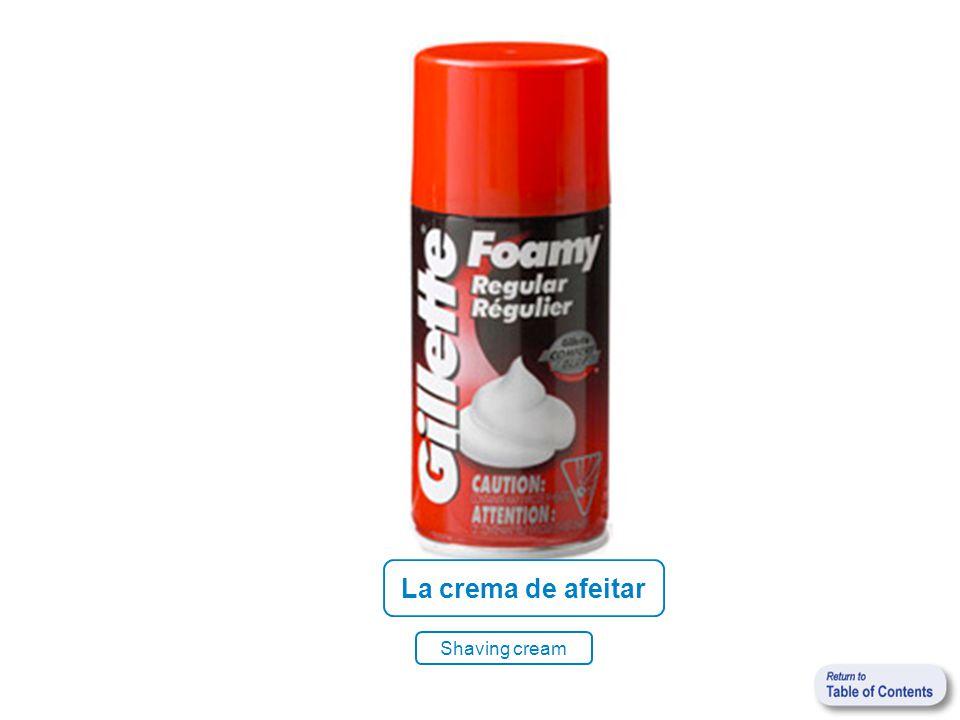 La crema de afeitar Shaving cream