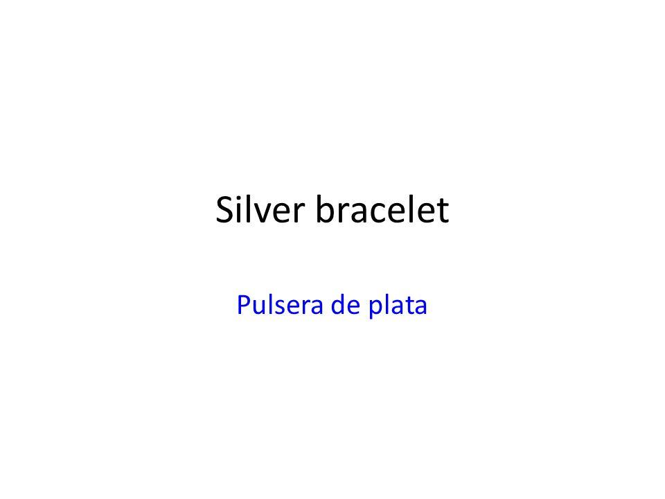 Silver bracelet Pulsera de plata