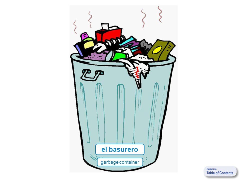 el basurero garbage container