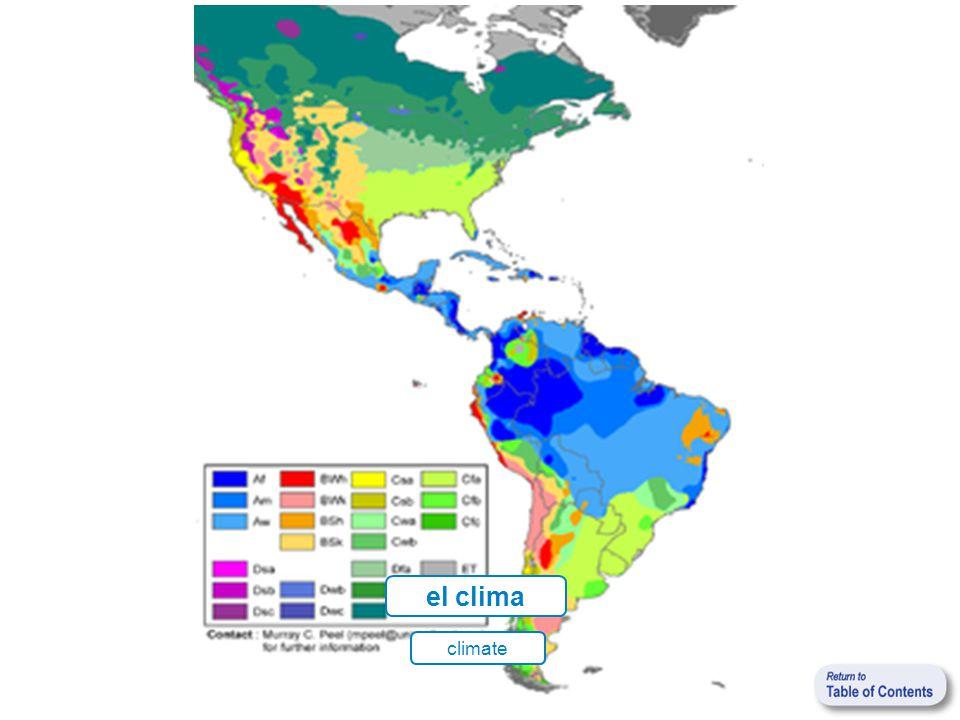 el clima climate