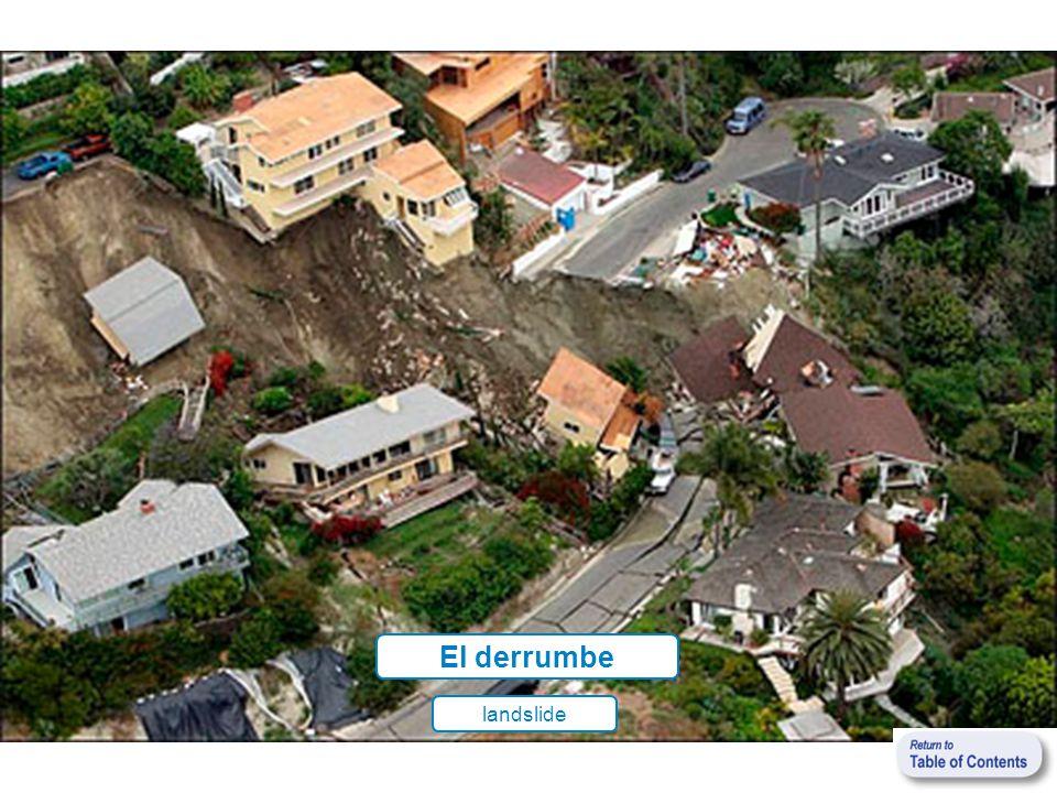 El derrumbe landslide