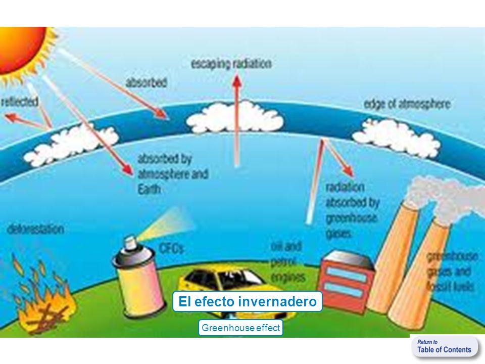 El efecto invernadero Greenhouse effect