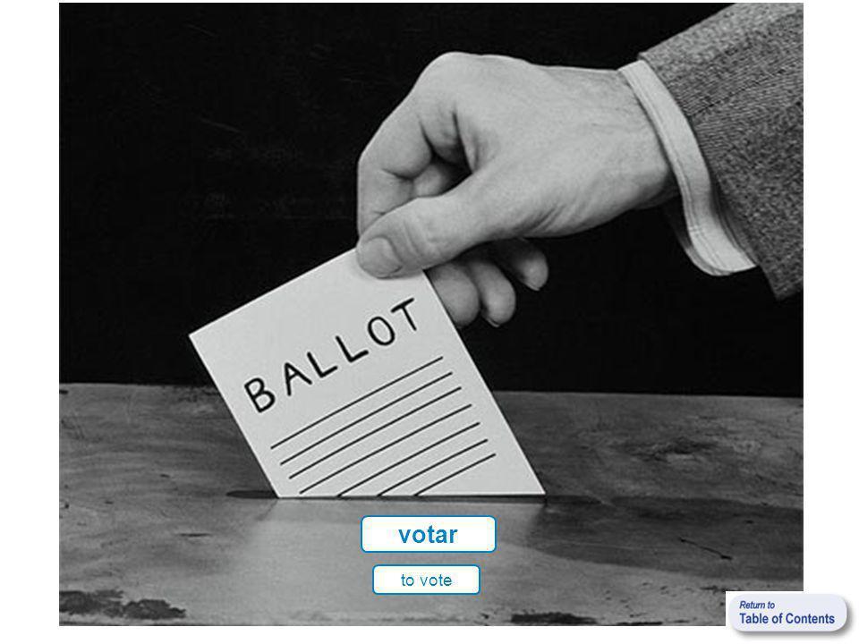 votar to vote