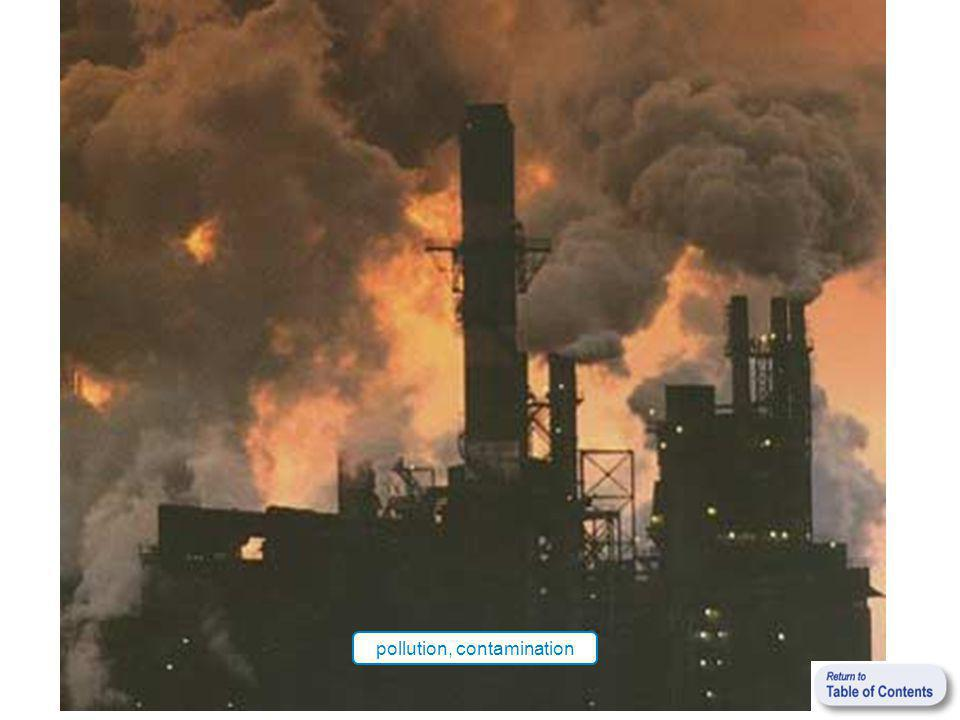 pollution, contamination