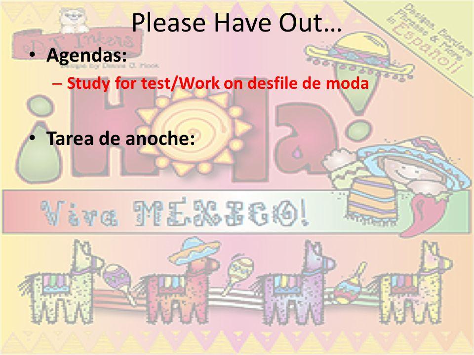 Examen- miércoles/jueves Vocabulario pg.