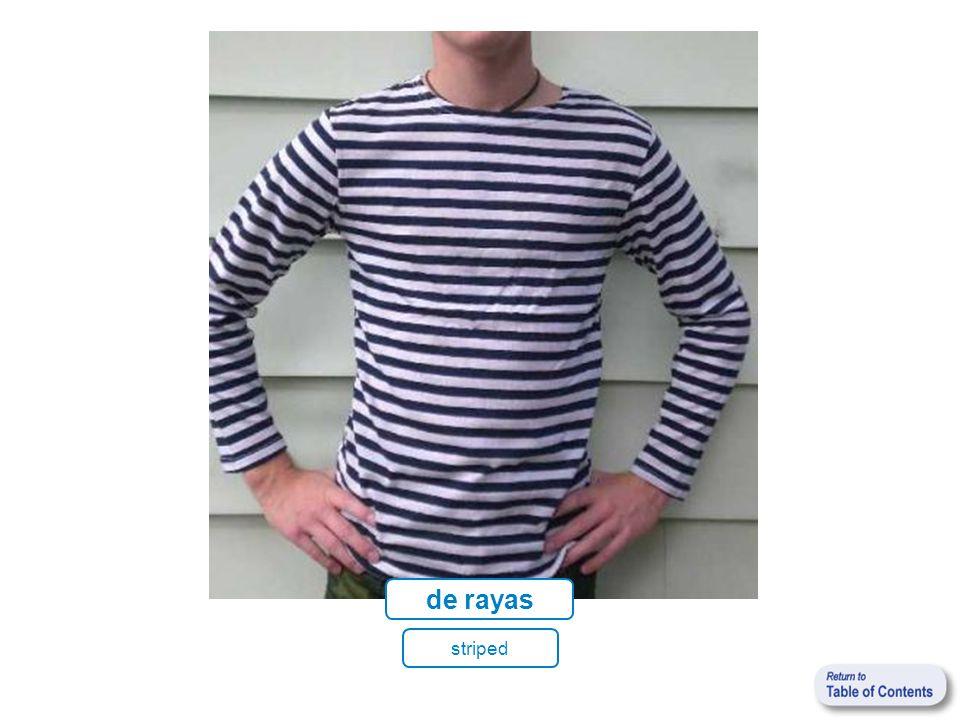 de rayas striped