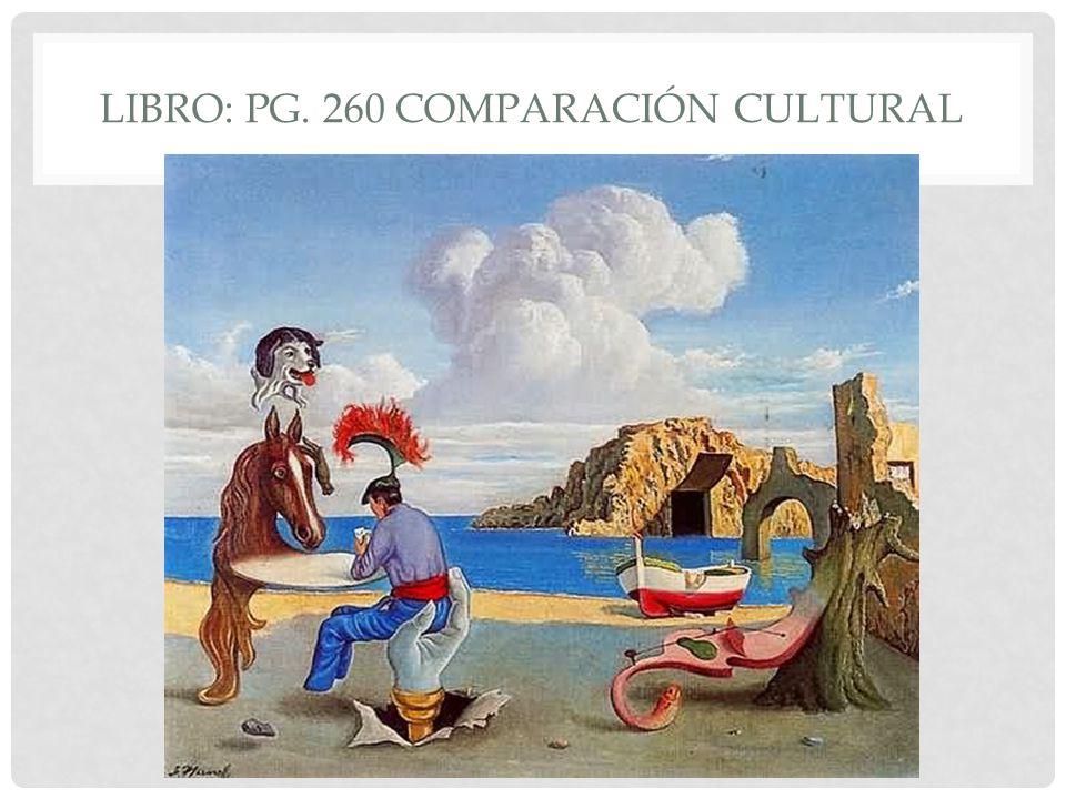 LIBRO: PG. 260 COMPARACIÓN CULTURAL