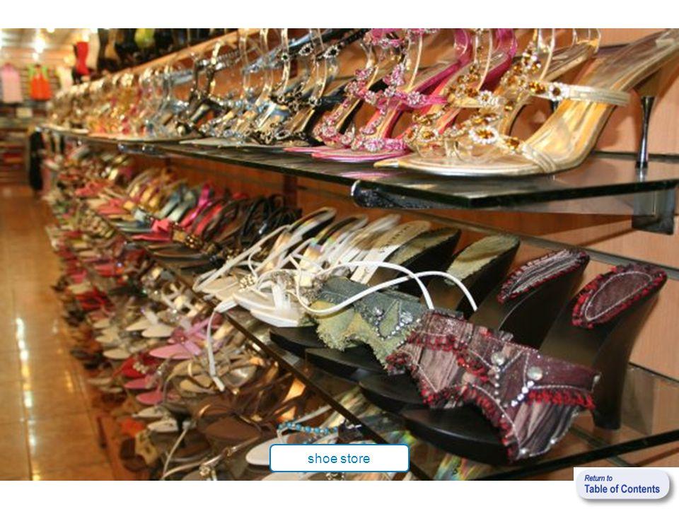 shoe store