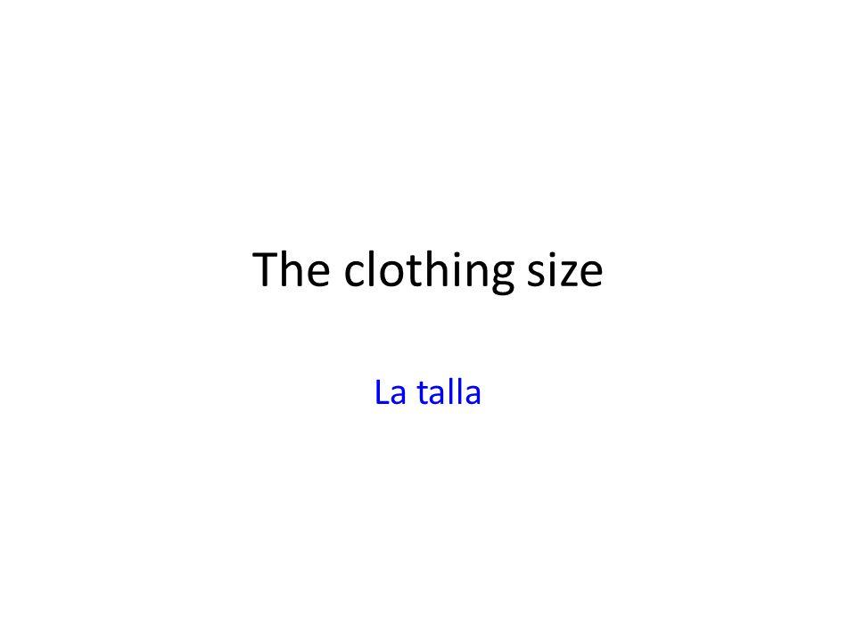 The clothing size La talla