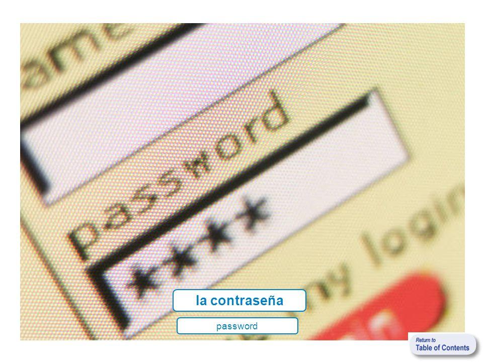 la contraseña password