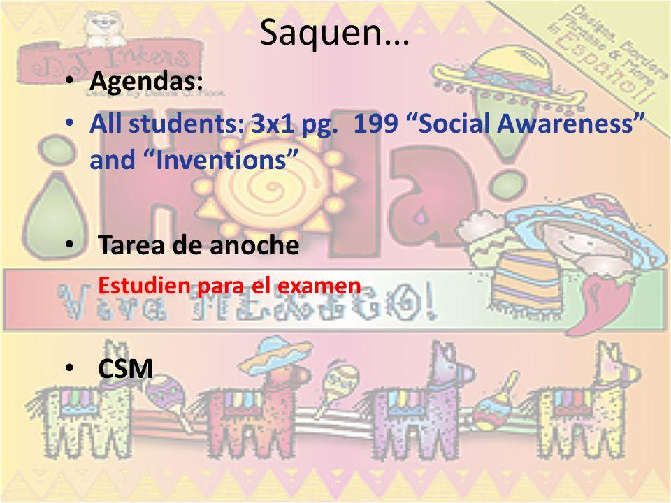 Examen- jueves Vocabulario pg.173 El futuro Por vs.