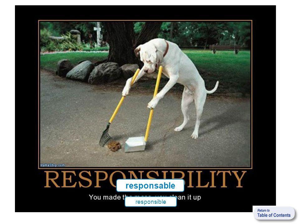responsable responsible