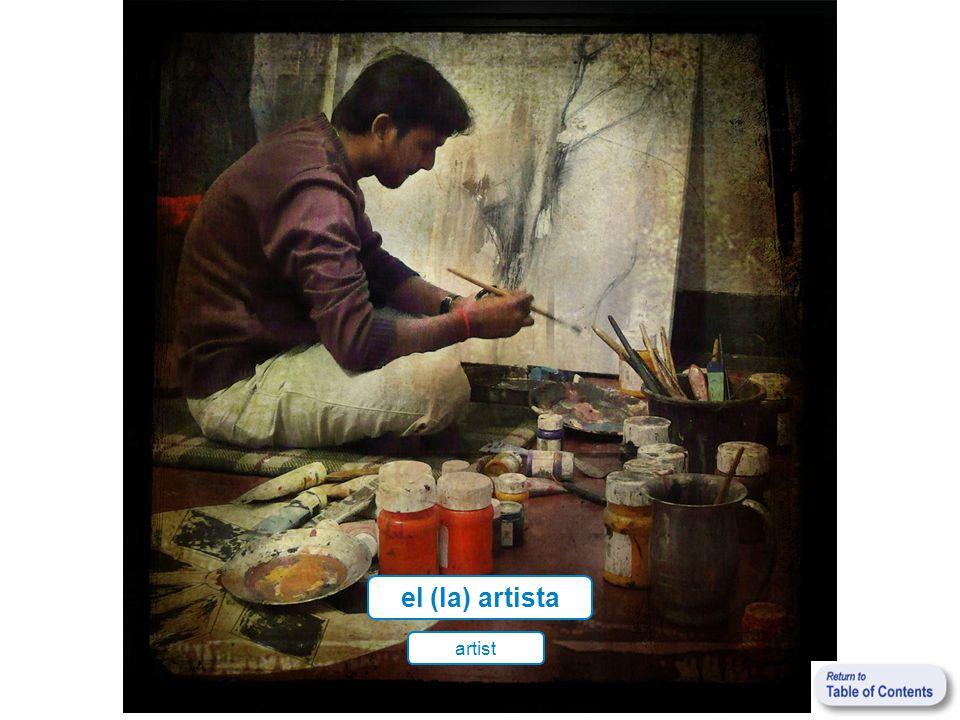 el (la) artista artist