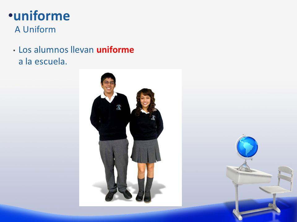 Los alumnos llevan uniforme a la escuela. Llevar To wear Lady Gaga lleva un vestido de carne.