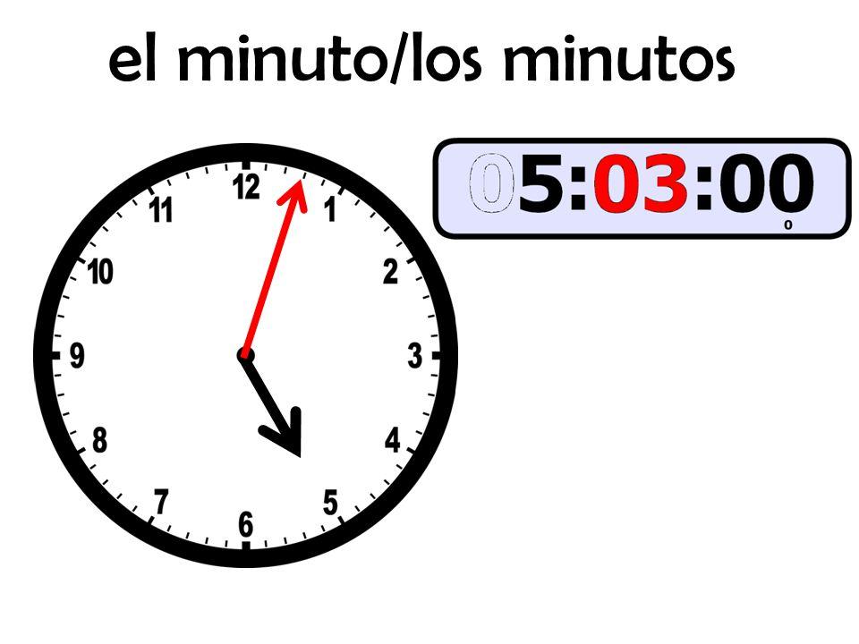 el minuto/los minutos