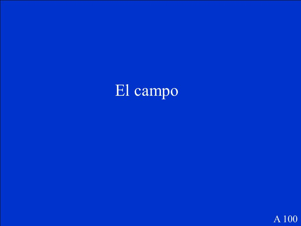 The Final Jeopardy Category is: Español Please record your wager. Click on screen to begin