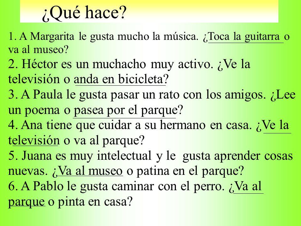 preguntas En los Apuntes: Complete the following sentences with an interrogative word or question. 1.¿_________ vas después de clase? 2.¿_________se l