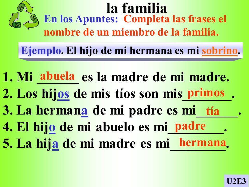 Muchos animales p. 52/U2E3 Complete the description of Mario and María and their pets. 1. tres perros, cuatro gatos, dos pájaros, seis peces y una igu