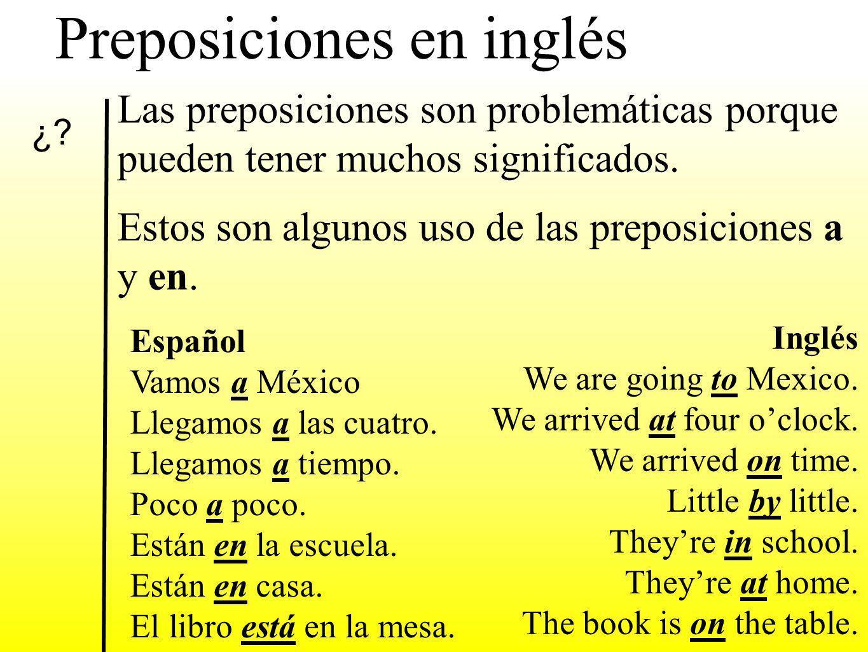 Posesiones en inglés En español la preposición de expresa posesión.