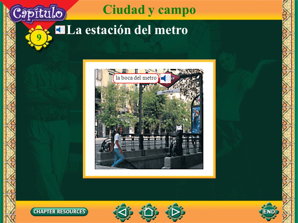 9 En la ciudad Ciudad y campo el autobús, la guagua, el camión La gente estaba esperando en la parada del bus.