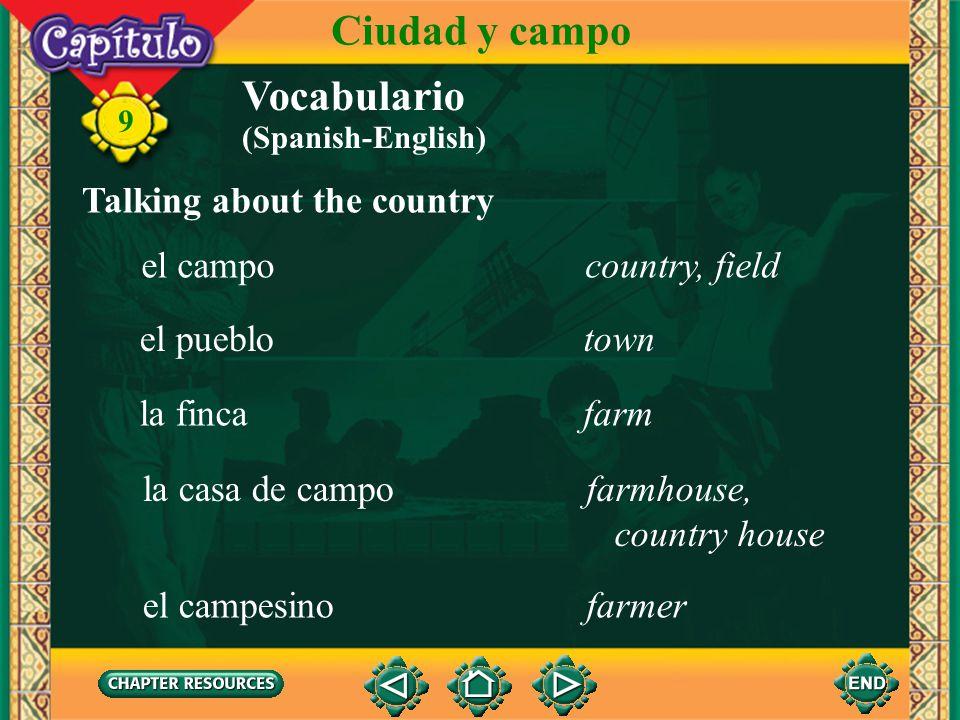 9 la ranuraslot Talking about public transportation Vocabulario Ciudad y campo la parada del busbus stop el autobús, la guagua, el camión bus (Spanish