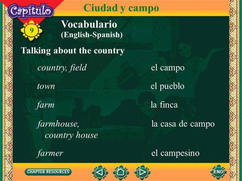 9 la ranuraslot Talking about public transportation Vocabulario Ciudad y campo la parada del busbus stop el autobús, la guagua, el camión bus (English
