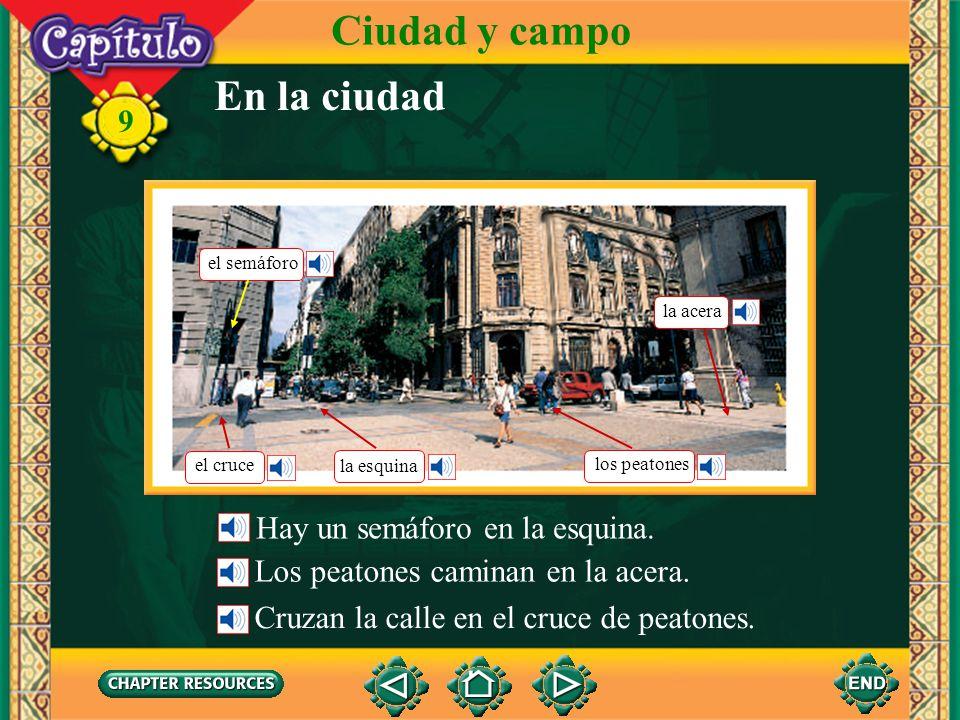 9 En la ciudad Ciudad y campo Esta calle o callecita angosta es muy pintoresca. Está en el barrio viejo de la ciudad.
