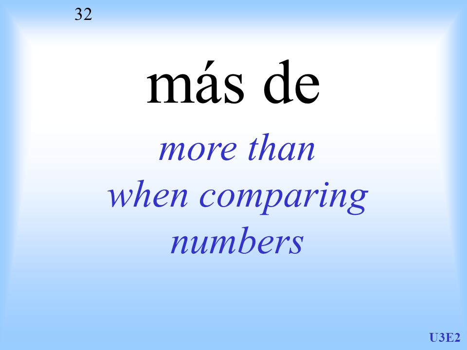 U3E2 32 más de more than when comparing numbers
