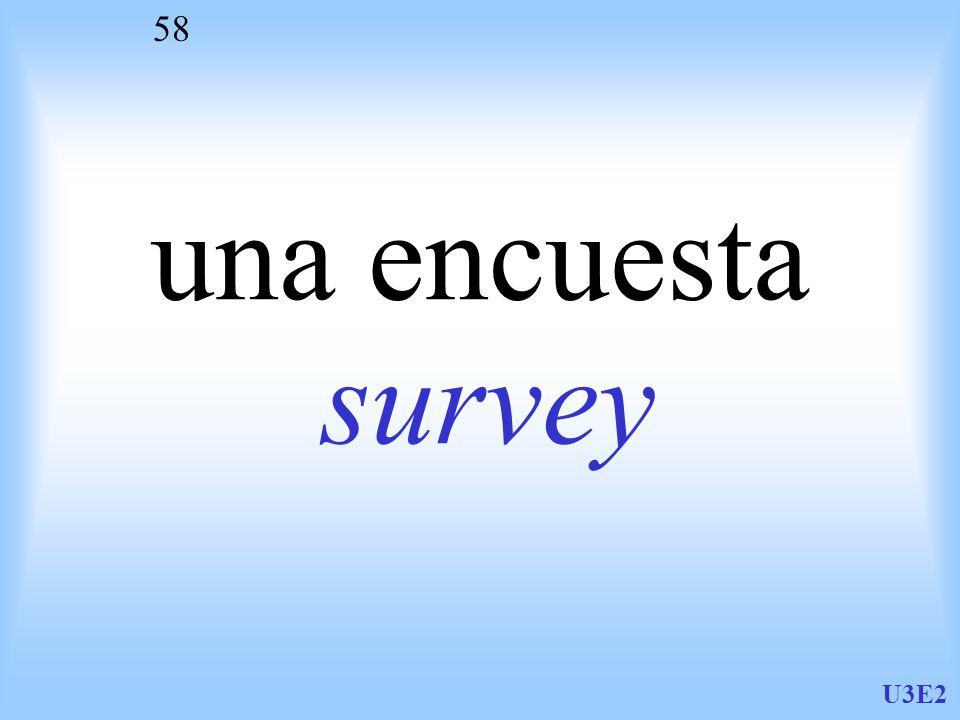 U3E2 58 una encuesta survey