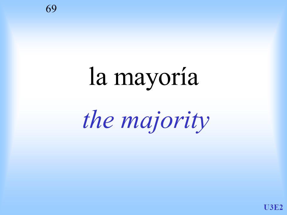U3E2 69 la mayoría the majority