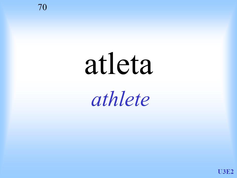 U3E2 70 atleta athlete