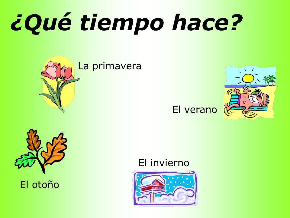Las Estaciones y Los Meses la primavera el verano el otoño el invierno marzo abril mayo junio julio agosto septiembre octubre noviembre diciembre enero febrero