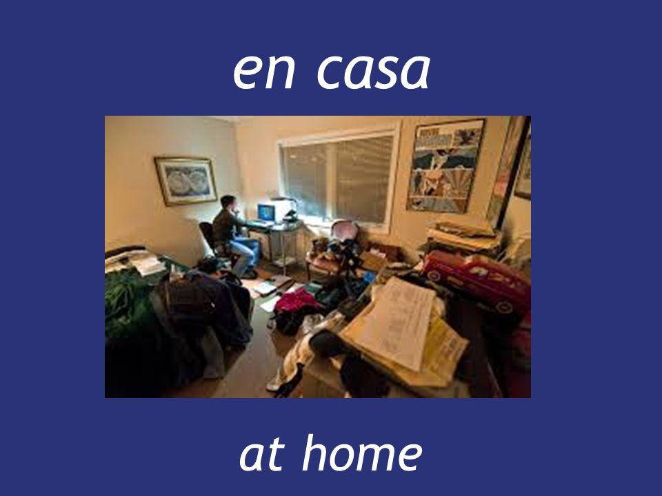 en casa at home at home