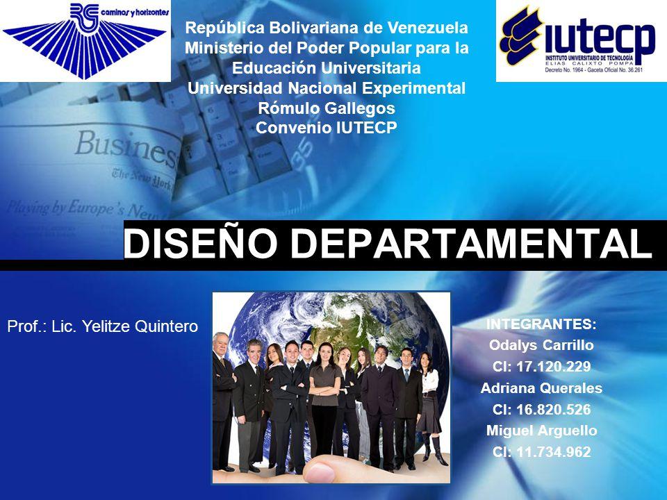 Diseño Departamental Odalys Carrillo CONTENIDO Diseño Departamental Division del Trabajo Departamentalización Coordinación Diferenciación e integración Coordinación Eficaz Enfoque Clásico Tecnológico y Ambiental Funciones de los Enfoques