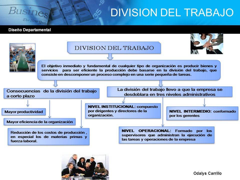 DIVISION DEL TRABAJO Diseño Departamental Odalys Carrillo