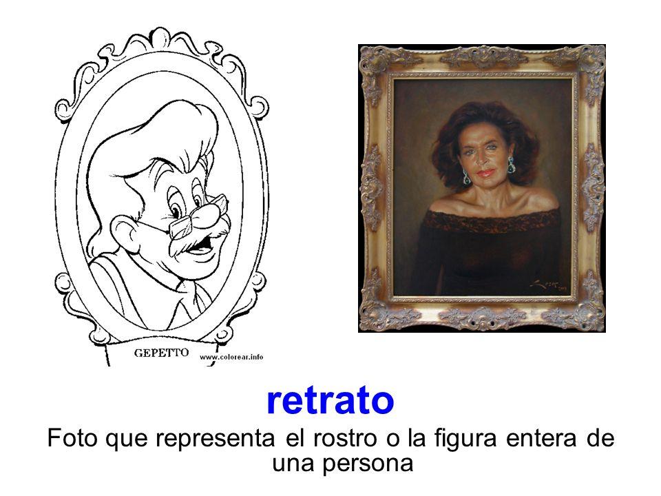 retrato Foto que representa el rostro o la figura entera de una persona