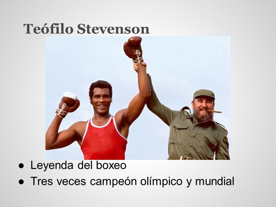 Teófilo Stevenson Leyenda del boxeo Tres veces campeón olímpico y mundial