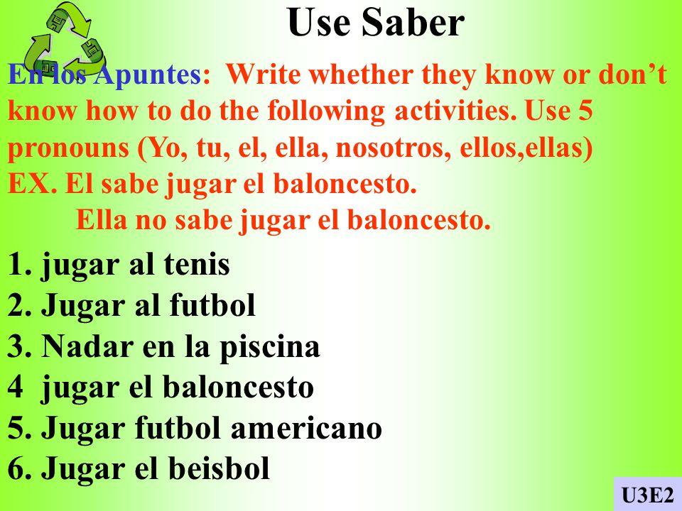 verbos/ me gusta En los Apuntes: Write whether you like or dislike to do the following activities. EX. Si, me gusta jugar al baloncesto. No me gusta j